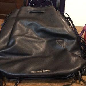 Victoria secrets black back pack